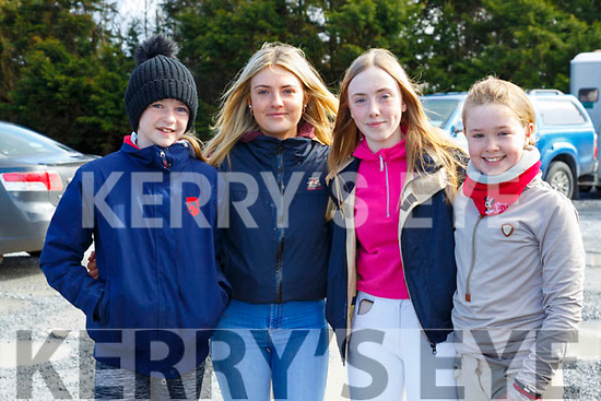 North Kerry Harriers Hunt: Taking part in the North Kerry Harrier's hunt in Asdee on Sunday last were Courtney Hunt, Asdee, Ava Reidy, Duagh & Shauna Curtin & Chloe Madigan from Knocknagoshel.