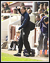 12/04/2003                   Copright Pic : James Stewart.File Name : stewart-arbroath v qots 03.ARBROATH'S MANAGER JOHN BROWNLIE SHOUTS INSTRUCTIONS AS HE SEES HIS TEAM'S 1ST DIVISION STATUS SLIPPING AWAY....James Stewart Photo Agency, 19 Carronlea Drive, Falkirk. FK2 8DN      Vat Reg No. 607 6932 25.Office     : +44 (0)1324 570906     .Mobile  : +44 (0)7721 416997.Fax         :  +44 (0)1324 570906.E-mail  :  jim@jspa.co.uk.If you require further information then contact Jim Stewart on any of the numbers above.........