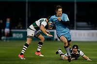 Tom Griffiths of London Scottish breaks through during the Greene King IPA Championship match between Ealing Trailfinders and London Scottish Football Club at Castle Bar , West Ealing , England  on 19 January 2019. Photo by Carlton Myrie/PRiME Media Images