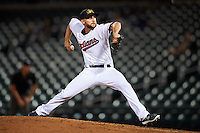 Mesa Solar Sox pitcher Trevor Frank (29), of the Cleveland Indians organization, during a game against the Salt River Rafters on October 22, 2016 at Sloan Park in Mesa, Arizona.  Salt River defeated Mesa 7-2.  (Mike Janes/Four Seam Images)