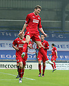 Raith's Patrick Clarke celebrates after he scores Raith's winning fourth goal.