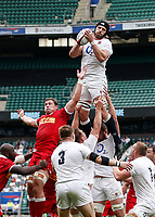 10th July 2021; Twickenham, London, England; International Rugby Union England versus Canada; Harry Wells of England taking the ball in a line out