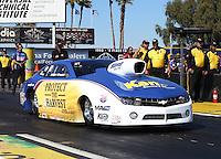 Feb. 22, 2013; Chandler, AZ, USA; NHRA pro stock driver Rodger Brogdon during qualifying for the Arizona Nationals at Firebird International Raceway. Mandatory Credit: Mark J. Rebilas-