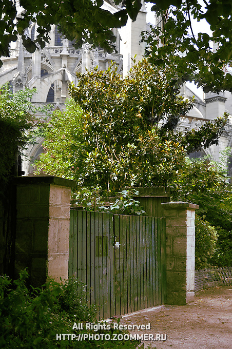 Notre Dame De Paris back Entrance Gates, Paris (France)