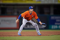 St. Lucie Mets third baseman Jimmy Titus (21) during a game against the Fort Myers Mighty Mussels on June 3, 2021 at Hammond Stadium in Fort Myers, Florida.  (Mike Janes/Four Seam Images)