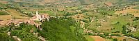 Panoramic arial Papal Basilica of St Francis of Assisi, ( Basilica Papale di San Francesco ) Assisi, Italy