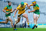 Stephen Rooney, Antrim in action against Paudie O'Connor, Kerry during the Joe McDonagh Cup Final match between Kerry and Antrim at Croke Park in Dublin.