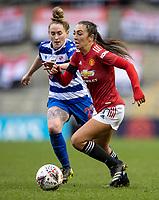 7th February 2021; Leigh Sports Village, Lancashire, England; Women's English Super League, Manchester United Women versus Reading Women; Katie Zelem of Manchester United Women runs with the ball