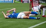 Hamilton Accies v St Johnstone…01.09.18…   New Douglas Park     SPFL<br />David McMillan reacts after mssing a sitter<br />Picture by Graeme Hart. <br />Copyright Perthshire Picture Agency<br />Tel: 01738 623350  Mobile: 07990 594431