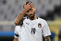 Francesco Caputo of Italy reacts during the friendly football match between Italy and Moldova at Artemio Franchi Stadium in Firenze (Italy), October, 7th 2020. Photo Andrea Staccioli/ Insidefoto