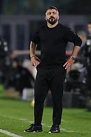 Gennaro Gattuso coach of SSC Napoli during the Italy Cup football match between SSC Napoli and Empoli FC at stadio Diego Armando Maradona in Napoli (Italy), January 13, 2021. <br /> Photo Cesare Purini / Insidefoto