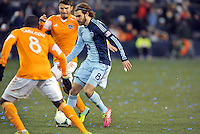 Kansas City, Kansas - Saturday November 23, 2013: Sporting Kansas City defeated Houston Dynamo 2-1 in the second leg of Eastern Conference Finals at Sporting Park. Kansas City advances to MLS final 2-1 on aggregate.