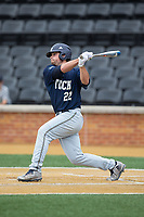 Trevor Craport (22) of the Georgia Tech Yellow Jackets follows through on his swing against the Wake Forest Demon Deacons at David F. Couch Ballpark on March 26, 2017 in  Winston-Salem, North Carolina.  The Demon Deacons defeated the Yellow Jackets 8-4.  (Brian Westerholt/Four Seam Images)
