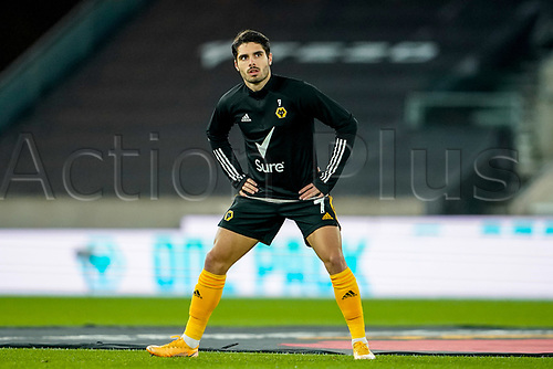 30th October 2020; Molineux Stadium, Wolverhampton, West Midlands, England; English Premier League Football, Wolverhampton Wanderers versus Crystal Palace; Pedro Neto of Wolverhampton Wanderers warms-up prior to the match