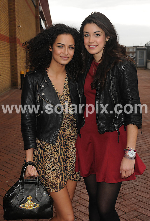 **EXCLUSIVE ALL ROUND PICTURES FROM SOLARPIX.COM**                                             **WORLDWIDE SYNDICATION RIGHTS**                                                                                  Caption: T4 Stars 2011 arrive at Earls Court in London                                                                              This pic:   Bianca Hendrickse & Anna Shafer                                                                                         .JOB REF: 14289       LNJ       DATE:11.12.2011                                                            **MUST CREDIT SOLARPIX.COM OR DOUBLE FEE WILL BE CHARGED**                                                                      **MUST AGREE FEE BEFORE ONLINE USAGE**                               **CALL US ON: +34 952 811 768 or LOW RATE FROM UK 0844 617 7637**