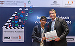 11 Feburary 2015, New Delhi, India: Australian High Commissioner to India Mr. Patrick Suckling presenting certificates and prizes to student  winners of the Astronomy section India International Video Competition run by Austrade in conjunction with Cambridge English and major sponsors Singapore Airlines presented at the Australian High Commission, New Delhi.  Picture by Graham Crouch/Austrade