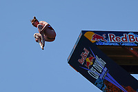 12th June 2021, Saint-Raphaël, Provence-Alpes-Côte d'Azur, France; Red Bull Cliff Diving competition;  Molly CARLSON (Can)
