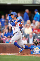 Lexington Legends shortstop Humberto Arteaga (23) at bat during a game against the Hagerstown Suns on May 22, 2015 at Whitaker Bank Ballpark in Lexington, Kentucky.  Lexington defeated Hagerstown 5-1.  (Mike Janes/Four Seam Images)