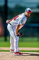 21 February 2019: Washington Nationals pitcher Vidal Nuno works on the mound during a Spring Training workout at the Ballpark of the Palm Beaches in West Palm Beach, Florida. Mandatory Credit: Ed Wolfstein Photo *** RAW (NEF) Image File Available ***