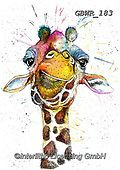 Simon, REALISTIC ANIMALS, REALISTISCHE TIERE, ANIMALES REALISTICOS, innovative, paintings+++++KatherineWilliams_SplatterRainbowGiraffe,giraffe,,GBWR183,#a#, EVERYDAY