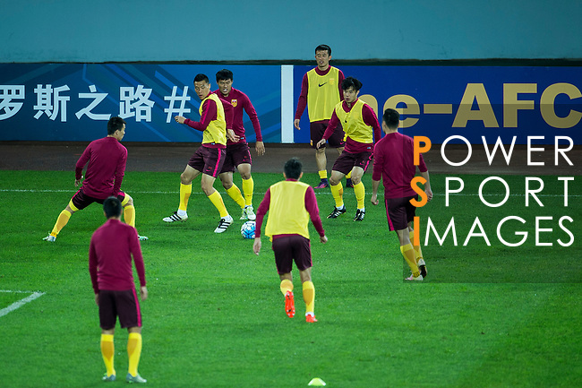 Pre-Match Press Conference and Official Training session prior to the2018 FIFA World Cup Russia Asian Qualifiers Final Qualification Round Group A match between China PR and Qatar at Kunming Tuodong Stadium on 14 November 2016, in Kunming, China. Photo by Marcio Rodrigo Machado / Power Sport Images
