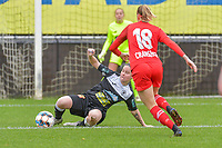 Stephanie Van Gils (27) of Eendracht Aalst pictured during a female soccer game between Eendracht Aalst and Standard Femina de Liege on the 11 th matchday of the 2020 - 2021 season of Belgian Scooore Womens Super League , Saturday 23 of January 2021  in Aalst , Belgium . PHOTO SPORTPIX.BE | SPP | STIJN AUDOOREN