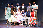 Melissa Errico and the cast during a Sneak Peak of the Irish Repertory Theatre Production of  'On A Clear Day You Can See Forever'  at the Irish Repertory Theatre on June 14, 2018 in New York City.