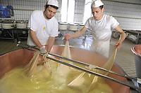 - Pozzali food industries Trescore Cremasco (Cremona), production of cheese Grana Padano DOP....- Pozzali Industrie Alimentari a Trescore Cremasco (Cremona), produzione del formaggio Grana Padano DOP