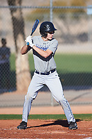 Kane Kiaunis (50), from North Plains, Oregon, while playing for the Tigers during the Under Armour Baseball Factory Recruiting Classic at Red Mountain Baseball Complex on December 29, 2017 in Mesa, Arizona. (Zachary Lucy/Four Seam Images)