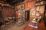 Interior of the historic Chew Kee Chinese herb store, established 1855 during California's Gold Rush, Fiddletown, Calif.