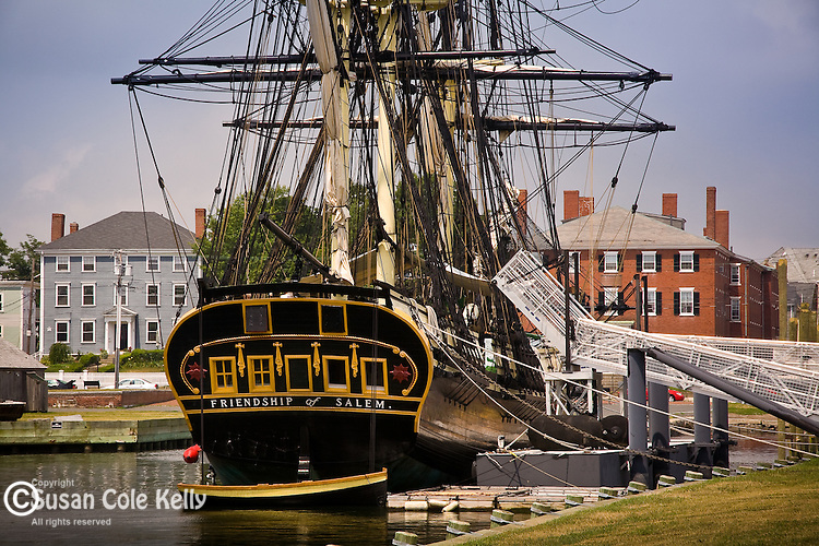 """Friendship of Salem"" docked at the Salem National Maritime Historical Park, Salem, North Shore, MA"