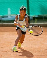 August 4, 2014, Netherlands, Dordrecht, TC Dash 35, Tennis, National Junior Championships, NJK,  Milou ter Morsche (NED)<br /> Photo: Tennisimages/Henk Koster