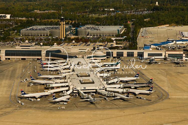 Aerial photo of Charlotte Douglas International Airport runways taken October 2008.