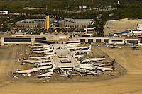 Aerial photo of Charlotte Douglas International Airport runways taken October 2008.