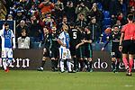 Leganes Nabil El Zhar dejected vs Real Madrid celebration goal during Copa del Rey  match. A quarter of final go. 20180118.