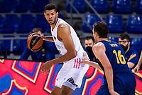 11th April 2021; Palau Blaugrana, Barcelona, Catalonia, Spain; Liga ACB Basketball, Barcelona versus Real Madrid; 22 Tavares of Real Madrid during the Liga Endesa match