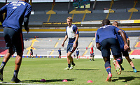GUADALAJARA, MEXICO - MARCH 18: Jackson Yueill #6 of the United States warming up during a game between Costa Rica and USMNT U-23 at Estadio Jalisco on March 18, 2021 in Guadalajara, Mexico.