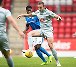 St Johnstone v Hartlepool…22.07.17… McDiarmid Park… Pre-Season Friendly<br />Louis Laing holds off Romaine Habran<br />Picture by Graeme Hart.<br />Copyright Perthshire Picture Agency<br />Tel: 01738 623350  Mobile: 07990 594431