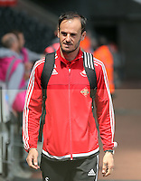 Gabriele Ambrosetti of Swansea arrives during the Swansea City FC v Manchester City Premier League game at the Liberty Stadium, Swansea, Wales, UK, Sunday 15 May 2016