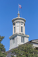 The cupola of the Tennessee State Capitol in Nashville, Tennessee.