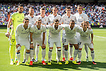 Players of Real Madrid pose for photos before the La Liga match between Real Madrid and Osasuna at the Santiago Bernabeu Stadium on 10 September 2016 in Madrid, Spain. Photo by Diego Gonzalez Souto / Power Sport Images