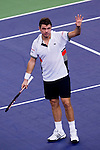 SHANGHAI, CHINA - OCTOBER 11:  Stanislas Wawrinka of Switzerland acknowlodges to the crowd after his win over Gilles Simon of France during day one of the 2010 Shanghai Rolex Masters at the Shanghai Qi Zhong Tennis Center on October 11, 2010 in Shanghai, China.  (Photo by Victor Fraile/The Power of Sport Images) *** Local Caption *** Stanislas Wawrinka
