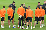 FC Shakhtar Donetsk's coach Luis Castro with his players during training session. October 16,2017.(ALTERPHOTOS/Acero)