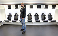 Swansea City FC player Gylfi Sigurdsson at the changing room of the Liberty Stadium, Swansea, Wales, UK. Tuesday 05 April 2016