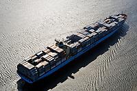 Charlotte Maersk: EUROPA, DEUTSCHLAND, HAMBURG, (EUROPE, GERMANY), 16.04.2009: Container,  Hamburger Hafen, Elbe, Schiff, Seeschiff, Containerschiff, Logistik, Transport, Wirtschaft, Boom, Reederei AP Moller Maersk, Baujahr 2002, 6600 teu, Luftbild, Luftansicht, Luftaufnahme, Aufwind-Luftbilder<br />c o p y r i g h t : A U F W I N D - L U F T B I L D E R . de<br />G e r t r u d - B a e u m e r - S t i e g 1 0 2, <br />2 1 0 3 5 H a m b u r g , G e r m a n y<br />P h o n e + 4 9 (0) 1 7 1 - 6 8 6 6 0 6 9 <br />E m a i l H w e i 1 @ a o l . c o m<br />w w w . a u f w i n d - l u f t b i l d e r . d e<br />K o n t o : P o s t b a n k H a m b u r g <br />B l z : 2 0 0 1 0 0 2 0 <br />K o n t o : 5 8 3 6 5 7 2 0 9 V e r o e f f e n t l i c h u n g  n u r  m i t  H o n o r a r  n a c h M F M, N a m e n s n e n n u n g  u n d B e l e g e x e m p l a r !