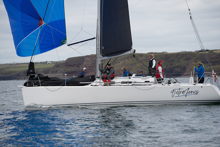 John & Suzie Murphy in the J109 Outrajeous was third on IRC