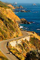 Pacific Coast Highway, also known as the Cabrillo Highway or Highway 1 along the Big Sur Coast, California.