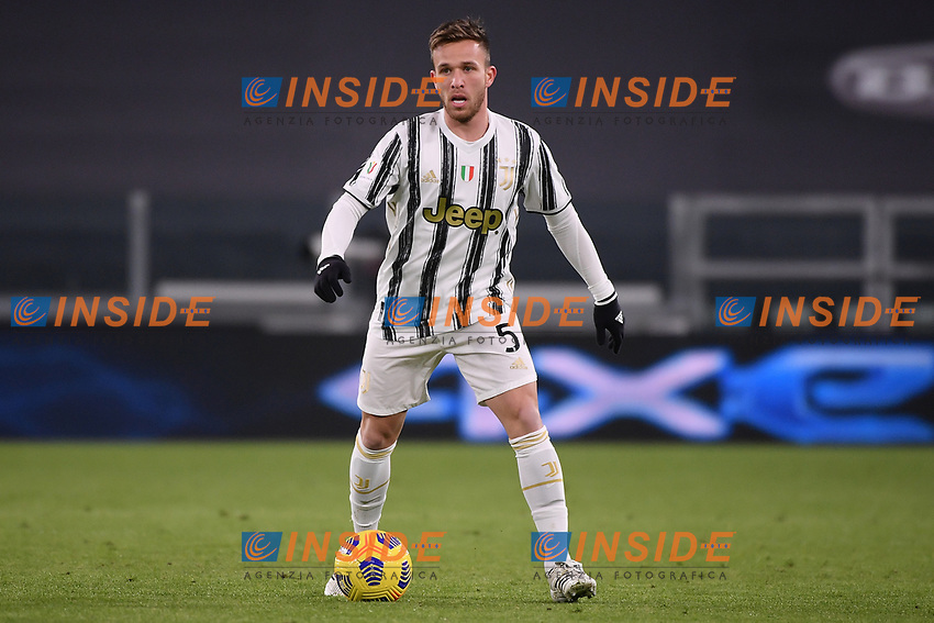 Arthur Melo of Juventus FC in action during the Italy Cup round of 16 football match between Juventus FC and Genoa CFC at Juventus stadium in Torino (Italy), January 13th, 2021. Photo Federico Tardito / Insidefoto