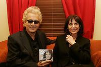 Luc Plamondon (L) anndRenee Claude<br /> at her  album launch, February 15 2006 at Lion D Or , Montreal.<br /> photo : Delphine descamps - Images Distribution