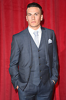 Aaron Sidwell<br /> arrives for the British Soap Awards 2016 at Hackney Empire, London.<br /> <br /> <br /> ©Ash Knotek  D3124  28/05/2016